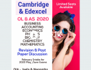 Cambridge & Edexcel OL,AS,AL Tuition