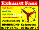 Exhaust fans srilanka , ventilation system supplie