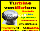 Air ventilators, Wind turbine ventilators srilanka
