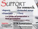 Support for  research including language editing