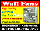 Wall exhaust shutters  fans srilanka ventilation
